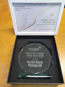 Approved Installer of the year 2020 was awarded to Perma Stone Paving Ltd.