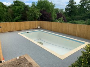 Resin Bound Pool Surround Luxury Marble - Alpine