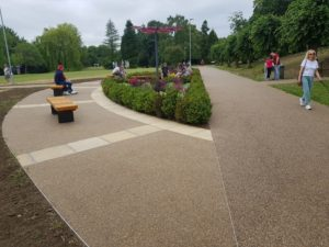Leavesden Woodland Country Park in Abbots Langley pathways installed in bronze sureset resin bound material web